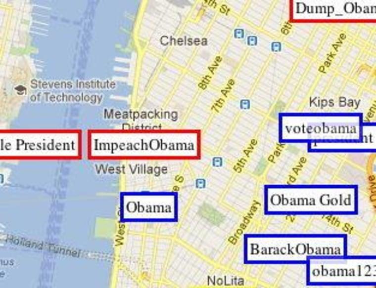 A close-up screenshot of Manhattan for OpenSignalMaps' project.