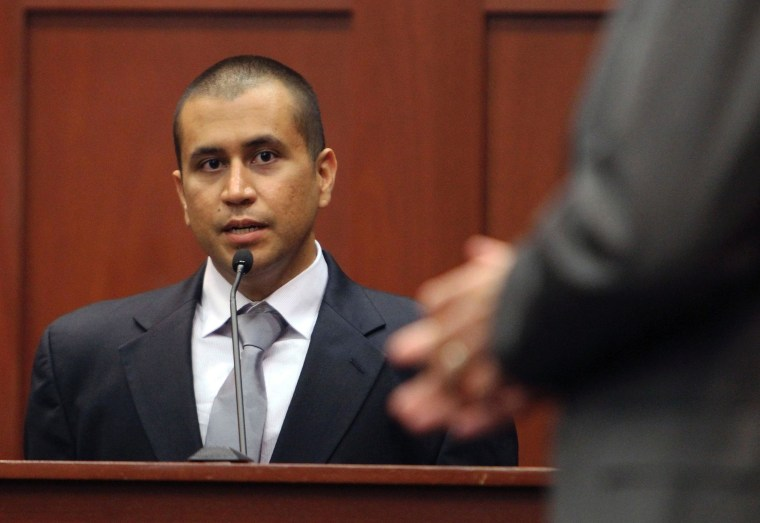 George Zimmerman, admitted killer of Trayvon Martin, at his April 20 bond hearing.