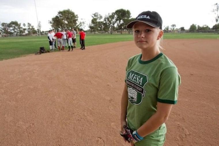 Mesa Prep second baseman Paige Sultzbach.