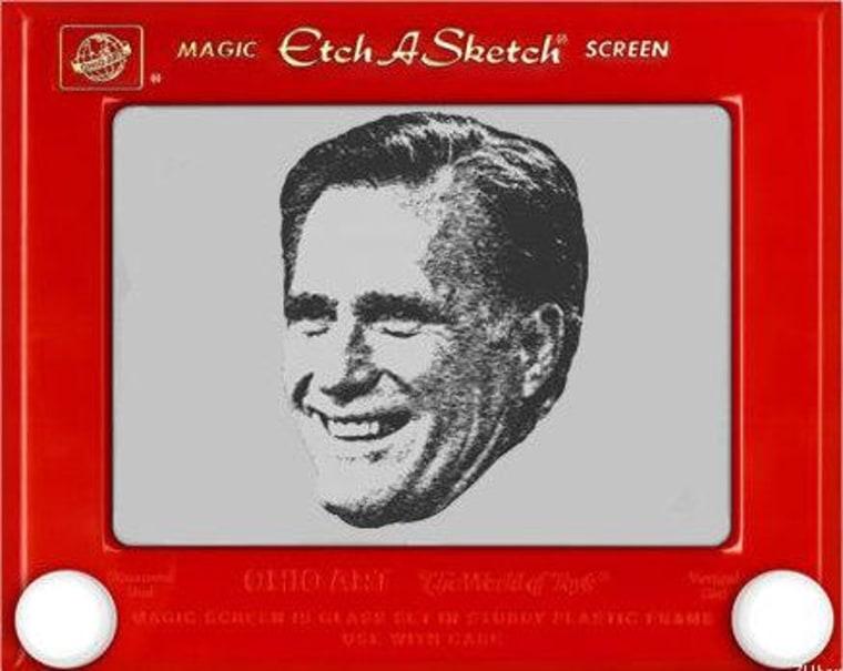 Romney's Etch-a-Sketch is malfunctioning
