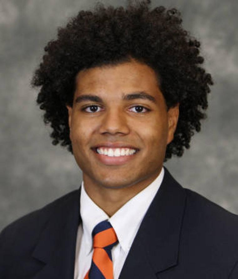 Virginia senior Joseph Williams.