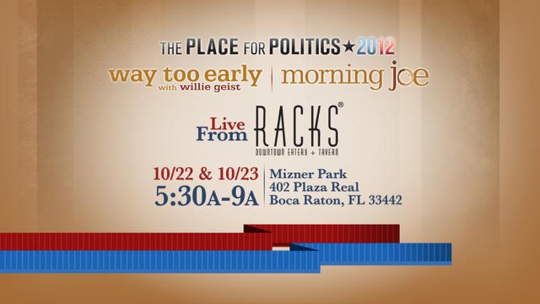 Morning Joe heads to Boca Raton, Florida for the final debate