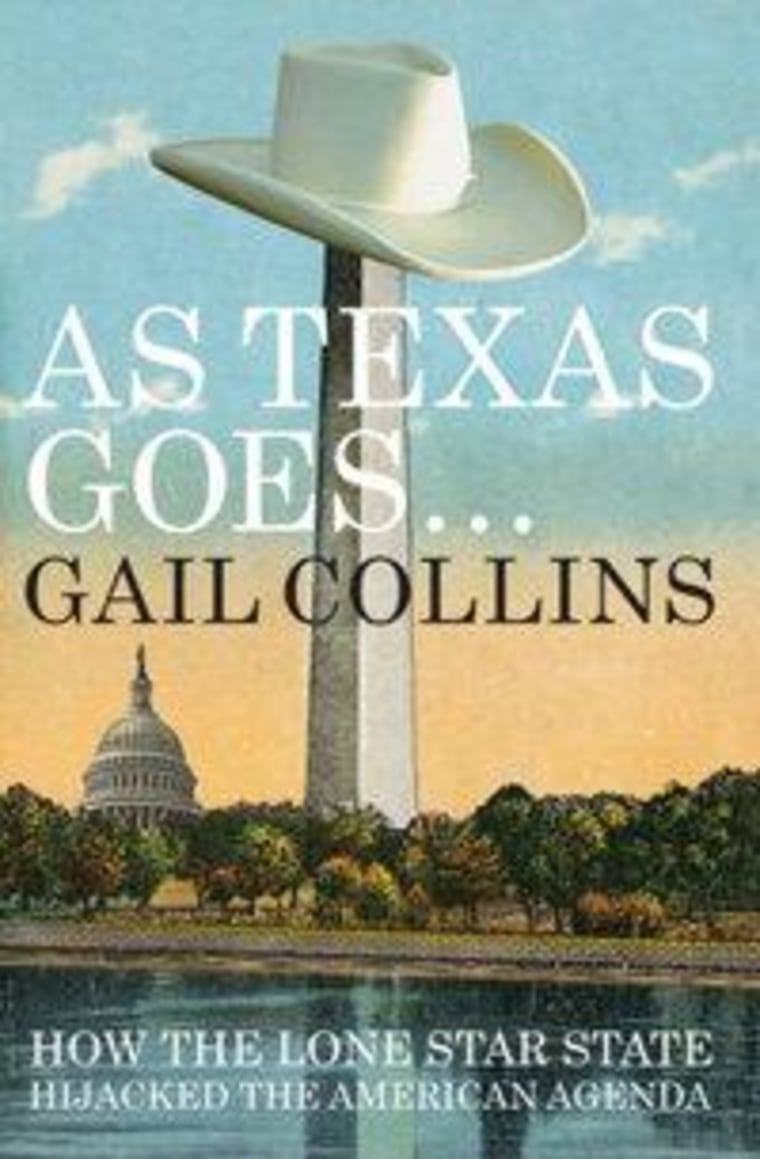 """An excerpt from new book Gail Collins' """"As Texas Goes..."""""""