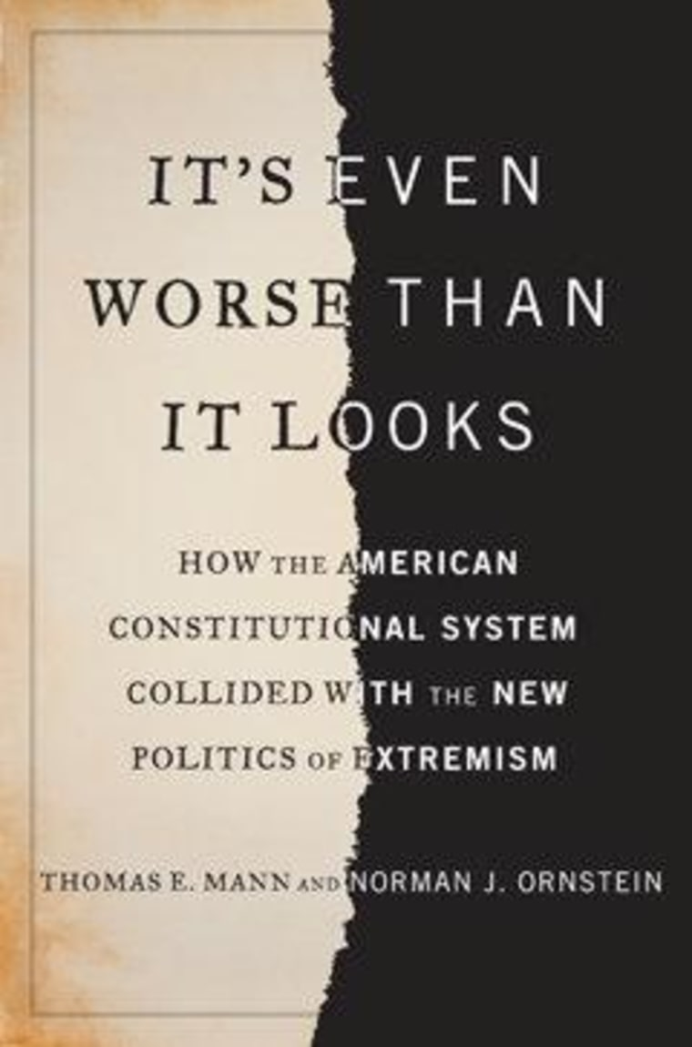"""An excerpt from Thomas Mann & Norman Ornstein's \""""It's Even Worse Than It Looks\"""""""