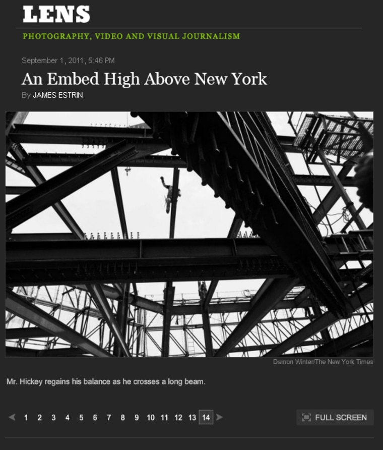 The Times takes a look at the men building NYC's tallest skyscraper