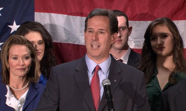 Rick Santorum suspends 2012 presidential campaign.