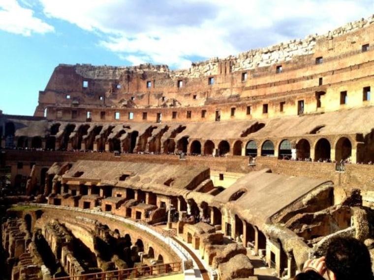 The Roman Coliseum earlier today