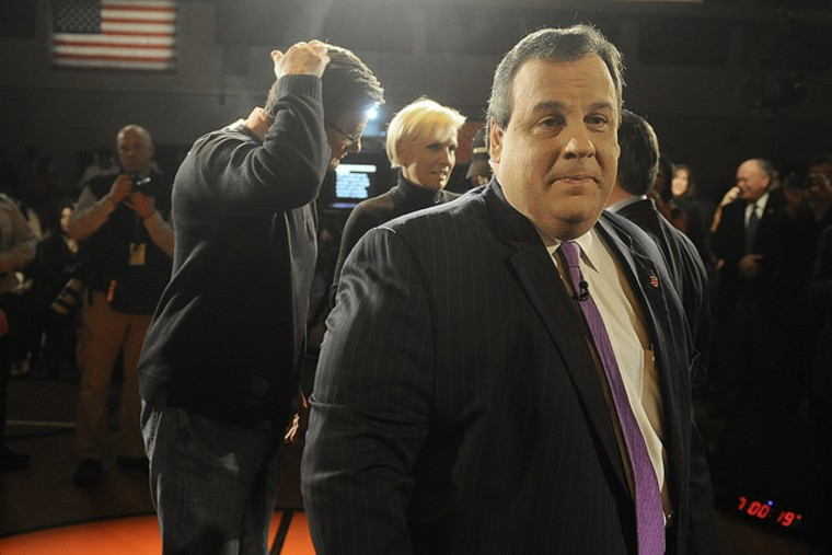 New Jersey Gov. Chris Christie was on hand this morning at Fort Lee High School in Fort Lee, New Jersey for a town hall meeting on education.