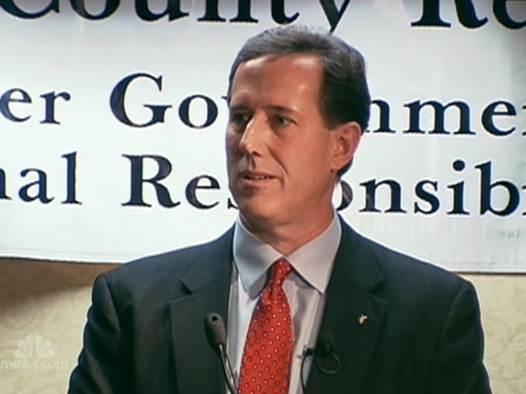 Washington Post says Santorum 'wrong man to be president'