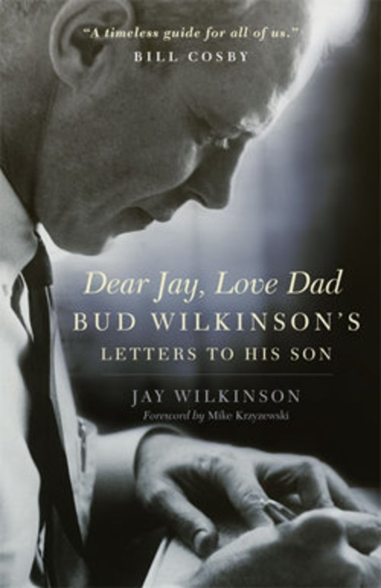"""An excerpt from Jay Wilkinson's new book \""""Dear Jay, Love Dad: Bud Wilkinson's Letters to His Son\"""""""