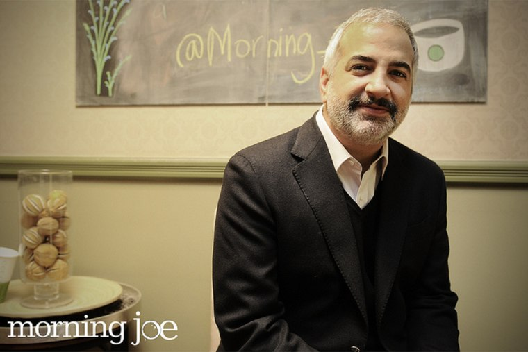 New York Times foreign correspondent Anthony Shadid in the Morning Joe green room April 1, 2011.