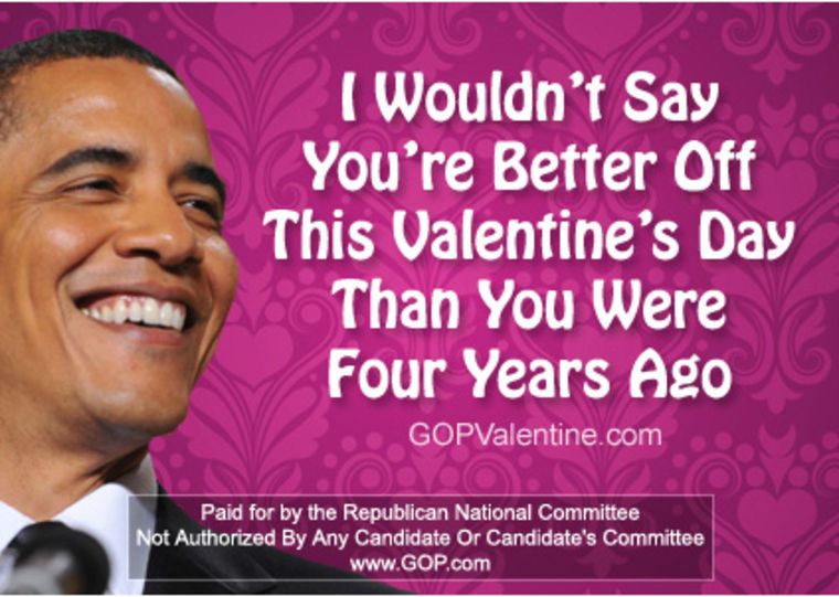 Send your sweetie some political commentary with a GOP Valentine