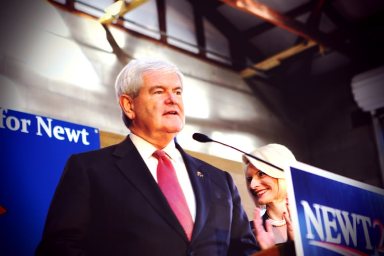 Newt Gingrich at a campaign stop in South Carolina