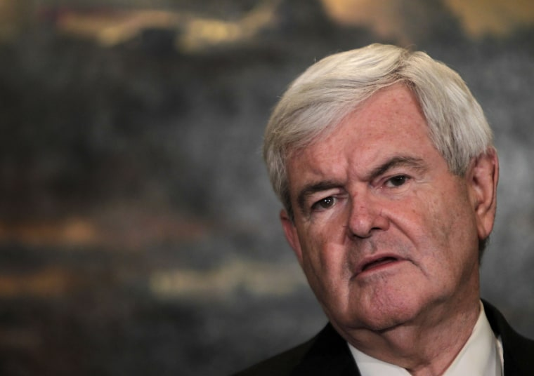 Republican presidential candidate, former House Speaker Newt Gingrich speaks at a news conference in New York.