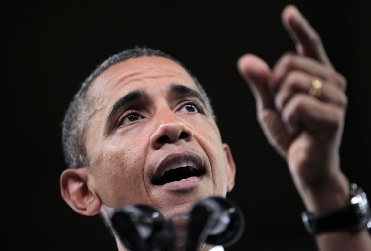 President Barack Obama gestures as he speaks on his American Jobs Act legislation, Wednesday, Sept. 14, 2011, at North Carolina State University in Raleigh, N.C.