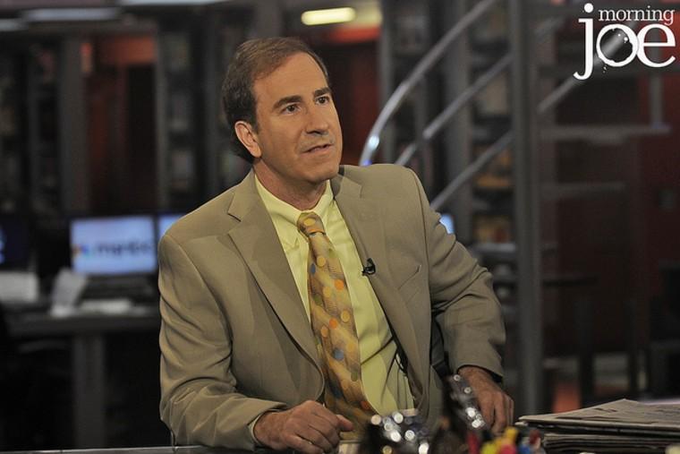Bernie Madoff whistleblower Harry Markopolos on the set of Morning Joe