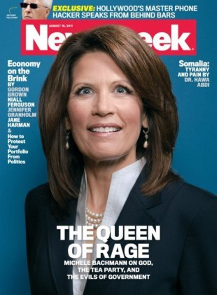 Michele Bachmann Newsweek cover gets the folks talkin'