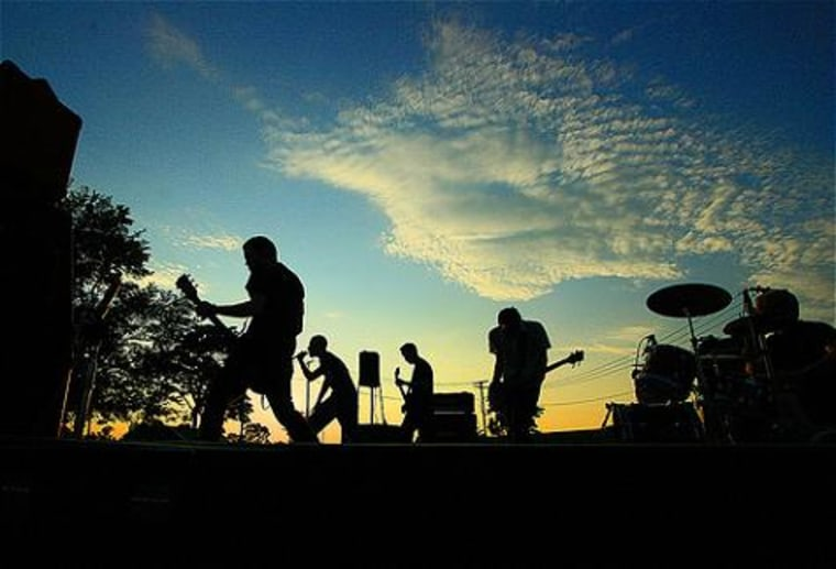 Band plays at D.C.'s Fort Reno park