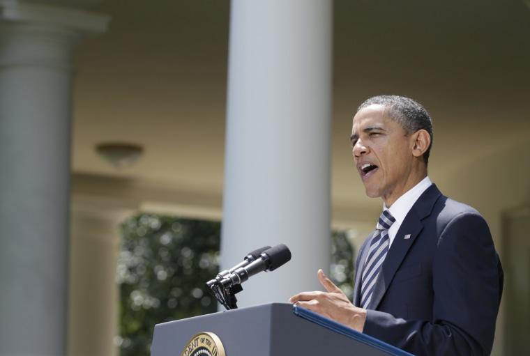 President Barack Obama speaks in Rose Garden of the White House in Washington, Tuesday, Aug. 2, 2011, after the Senate passed the debt ceiling legislation.