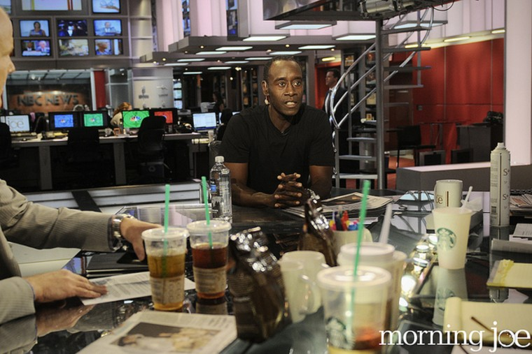 Actor Don Cheadle on the set of Morning Joe.