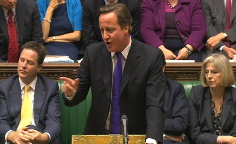 Prime Minister David Cameron makes a statement on phone hacking in the House of Commons, London. Picture date: Wednesday July 20, 2011.