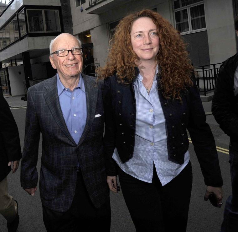 Rupert Murdoch and Rebekah Brooks at the Stafford Hotel, London, Britain -  July 10, 2011