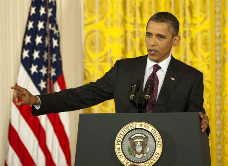 """President Barack Obama President Barack Obama press conference on financial obligations at the White House, Washington, DC, America - 29 Jun 2011 President Barack Obama discusses the current budgetary debate. He suggested that """"Congress should stay in..."""