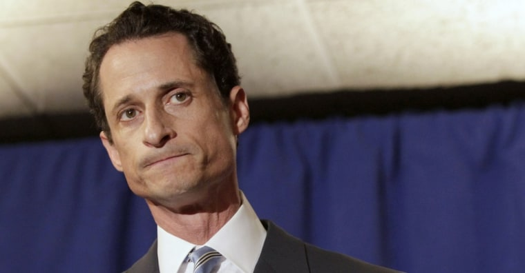 U.S. Congressman Anthony Weiner (D-NY) reacts as he speaks to the media in New York in this June 6, 2011 file photo. Calls for Weiner's resignation, including from some fellow Democrats, mounted on June 8, 2011, two days after he confirmed details of...