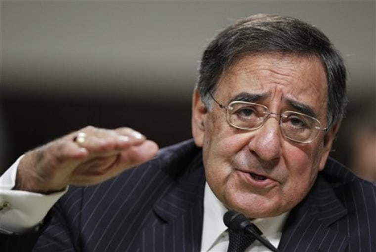 Defense Secretary nominee, CIA Director Leon Panetta, testifies on Capitol Hill in Washington, Thursday, June 9, 2011, before the Senate Armed Service Committee hearing on his nomination.