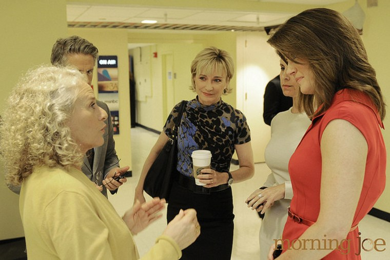 Carole King, Donny Deutsch, Cosmopolitan editor-in-chief Kate White, and NBC's Norah O'Donnell chat at 30 Rock.