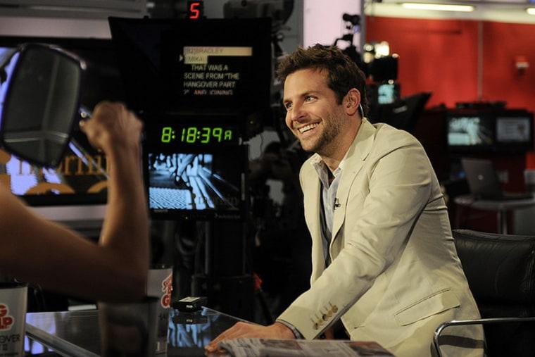 Bradley Cooper on the set of Morning Joe