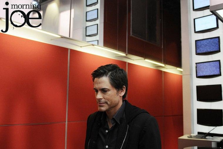 Rob Lowe in the msnbc studio