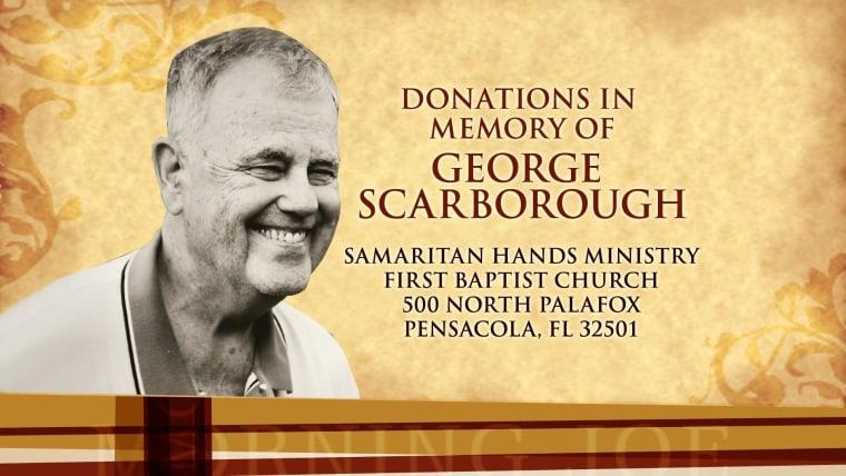 In honor of Joe's Dad, George Scarborough