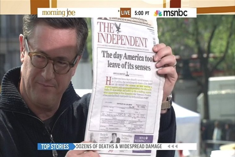 Independent UK: The day America took leave of its senses