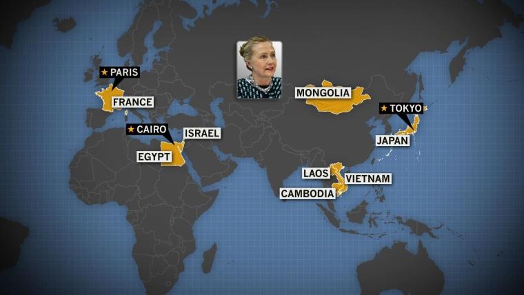 Secretary Clinton wraps up her 2 week overseas tour