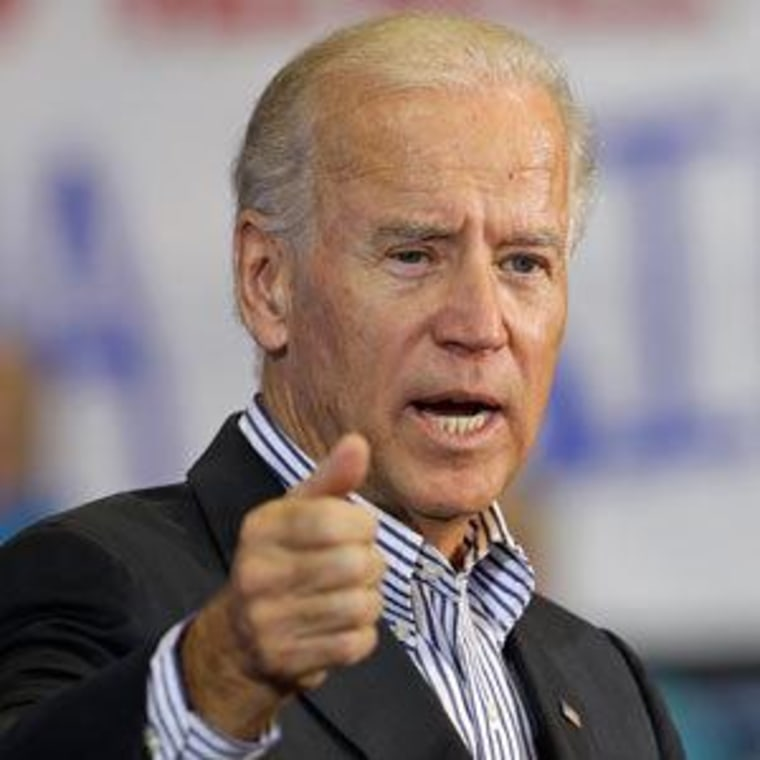 Vice President Biden speaking at a campaign event Tuesday in Asheville, North Carolina.