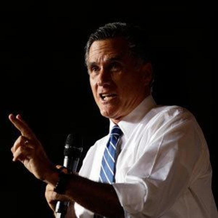 Mitt Romney campaigning at Wings Over the Rockies Air and Space Museum on Monday in Denver, Colorado.