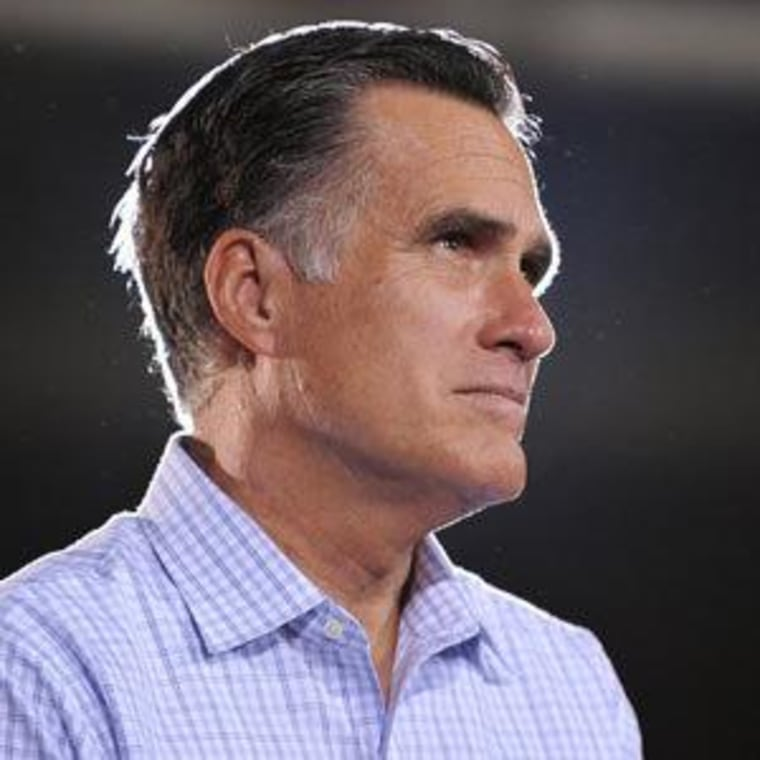 Mitt Romney on the campaign trail Wednesday in Bedford Heights, Ohio.