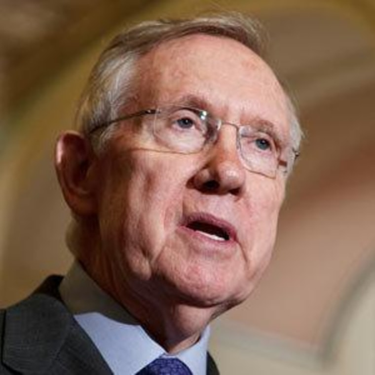 Senate Majority Leader Harry Reid at the Capitol Tuesday in D.C.