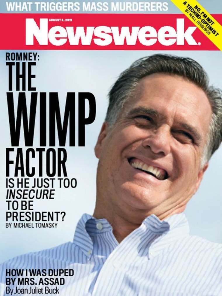 Romney brushes off 'wimp' charges