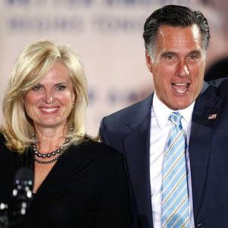 Ann and Mitt Romney (file)