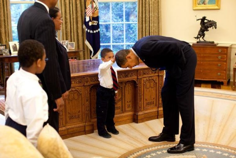 The boy who touched the president's hair