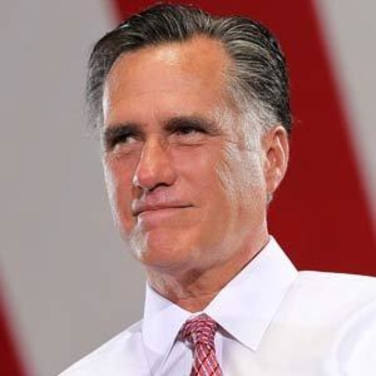 Mitt Romney at a campaign rally in Las Vegas, Nevada on Tuesday.