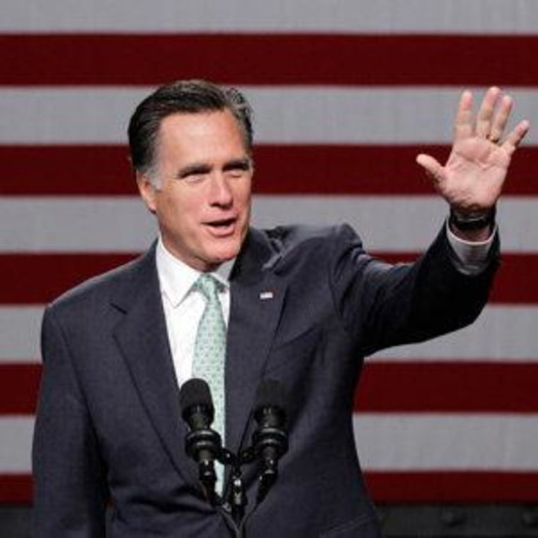 Mitt Romney speaking at Lansing Community College in Michigan on Tuesday.