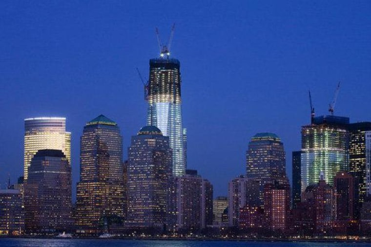 One World Trade Center changing the shape of the New York City skyline (file).