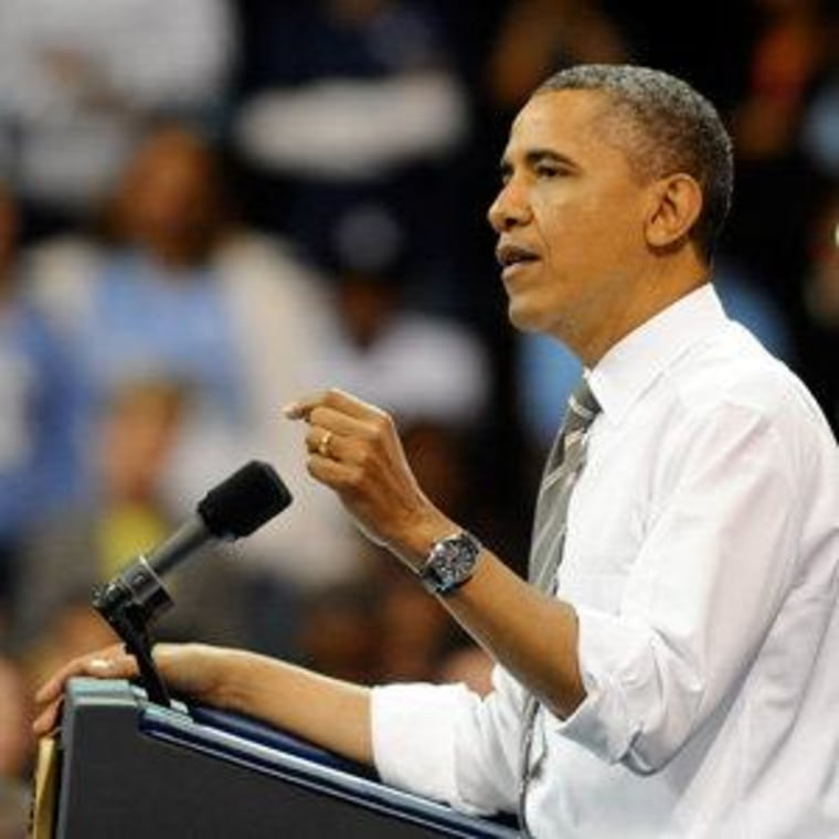 President Obama speaking at the University of North Carolina at Chapel Hill on Tuesday.