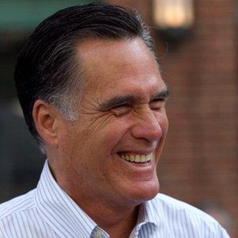 Mitt Romney speaking at Fenway Park baseball stadium in Boston on Monday.