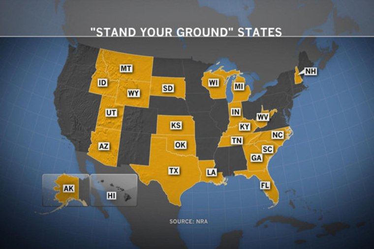 States with 'Stand Your Ground' laws