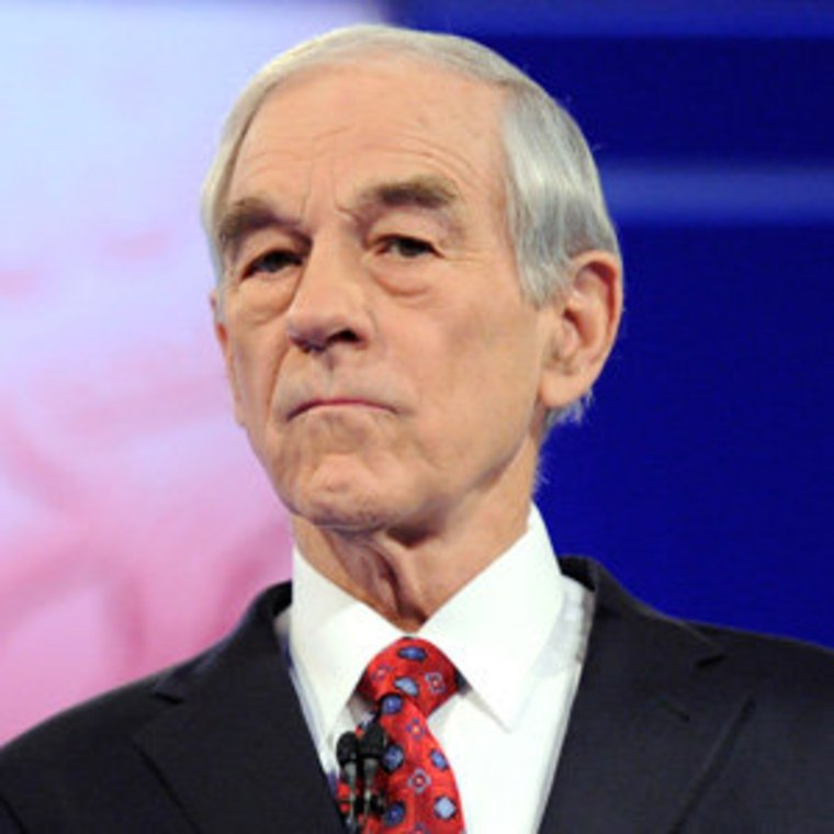 Ron Paul at the Republican debate in Mesa, Arizona on Wednesday.