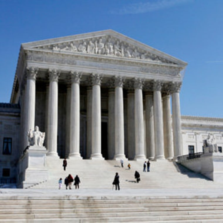 Outside of the Supreme Court in Washington, D.C. (file)